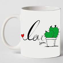 """Чашка """"Любить колючку"""""""