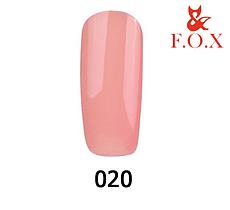 Гель-лак FOX Pigment № 020 (теплий бежевий), 6 мл