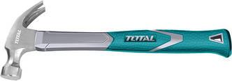 Молоток столярный с гвоздодером TOTAL THT73166 450 гр