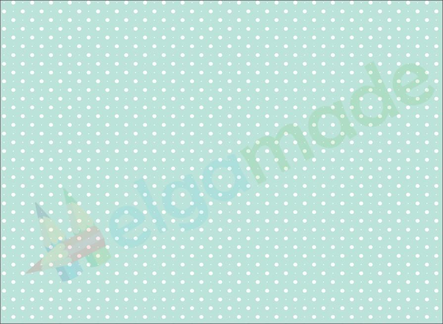 Фетр с принтом ГОРОШЕК НА СВЕТЛО-МЯТНОМ, 22x30 см, корейский мягкий 1.2 мм