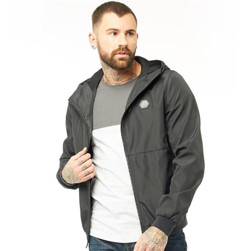 Мужская куртка ветровка Crosshatch Fabians черная оригинал