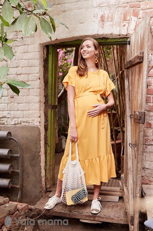Платье летнее для беременных и кормящих Zanzibar ЮЛА МАМА (жёлтый, размер L)