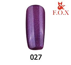 Гель-лак FOX Pigment № 027 (фіолетовий з синім шиммером), 6 мл