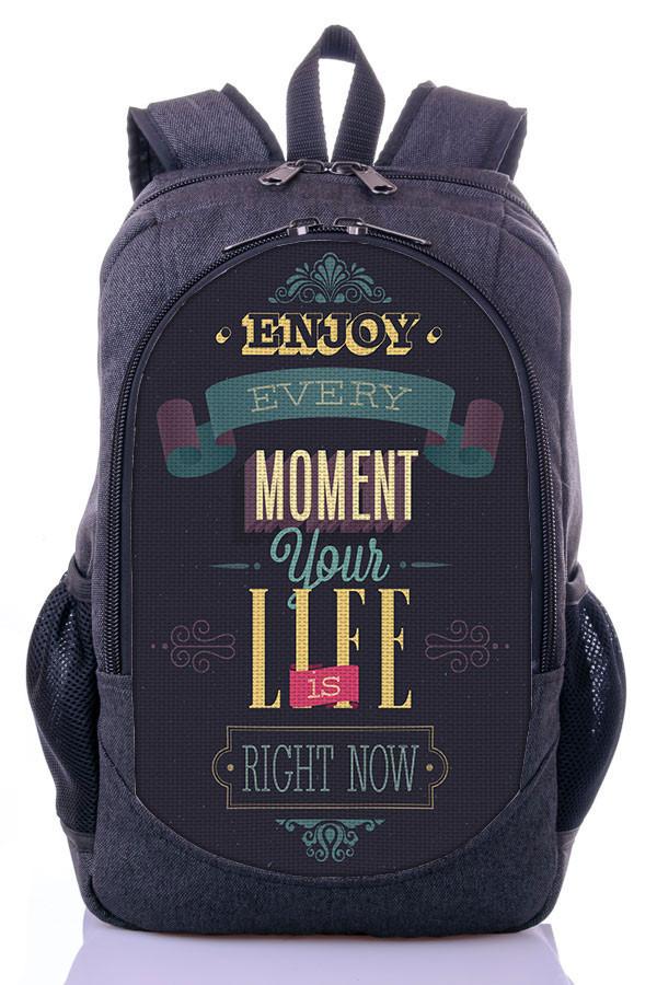 Рюкзак школьный городской с принтом Moment your life Zaino (507)