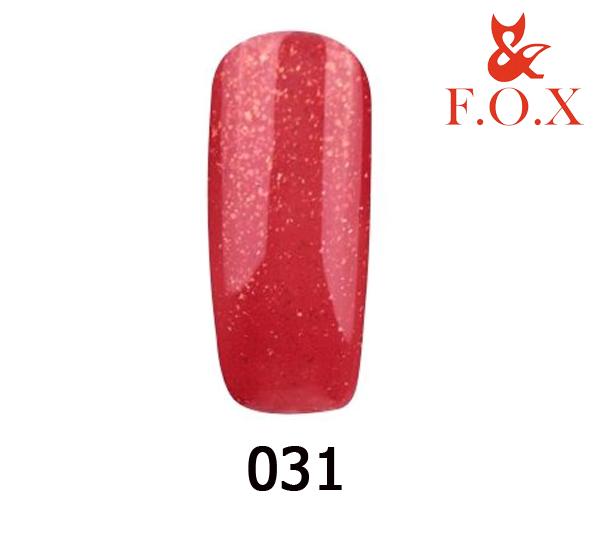 Гель-лак FOX Pigment № 031( классический красный с золотым шиммером), 6 мл
