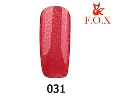 Гель-лак FOX Pigment № 031( класичний червоний з золотим шиммером), 6 мл