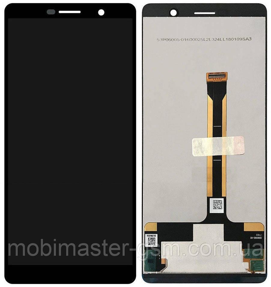 LCD модуль Nokia 7 Plus Dual Sim (TA-1046) черный