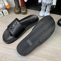 """Сланцы Ysl Saint Laurent Jimmy Sandals In Leather """"Черные"""", фото 3"""