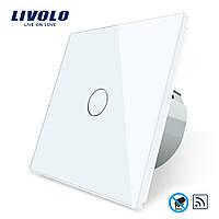 Бесконтактный радиоуправляемый выключатель Livolo цвет белый, материал стекло (VL-C701R-PRO-11)