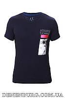 Футболка мужская ARMANI  19-AX774  темно-синяя, фото 1