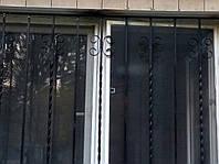Кованные оконные и дверные решетки (квадрат 12мм), замеры, изготовление, монтаж, Хмельницкий, Киев