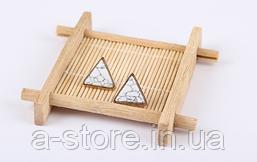 Сережки мармурові трикутні
