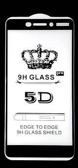 Защитное Стекло 5D Nokia 6.1 (Black)