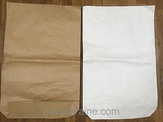 Бумажный мешок на 25 кг, 3 слоя