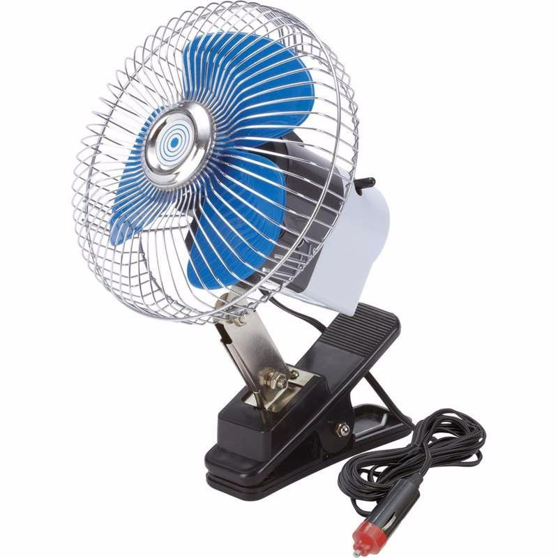 Вентилятор автомобильный поворотный на клипсе 12V