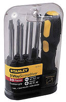 Отвертка с 9 сменными битами Stanley Multifunctional