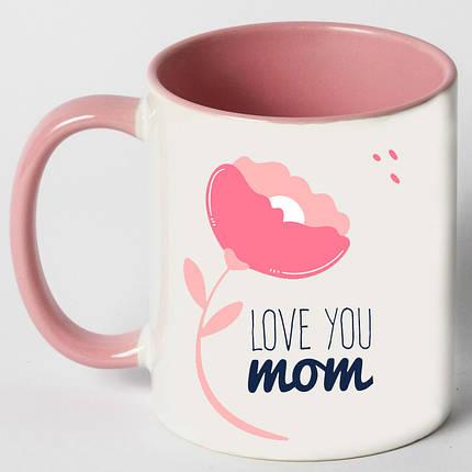 """Чашка """"Love you mom"""", фото 2"""