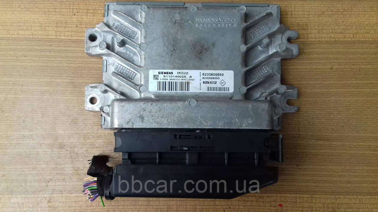 Блок управління двигуном  Dacia Sandero 1.4-1.6 2007-2013 р-в Siemens 8200856659 , S110140025A