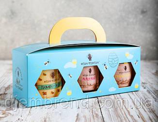 Подарочный набор с мёдом, 3 баночки по 250 мл