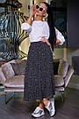 Женская летняя юбка, плиссированная, чёрная в горох, нарядная, повседневная, молодёжная,гламурная,ретро,винтаж, фото 2
