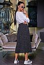 Женская летняя юбка, плиссированная, чёрная в горох, нарядная, повседневная, молодёжная,гламурная,ретро,винтаж, фото 4
