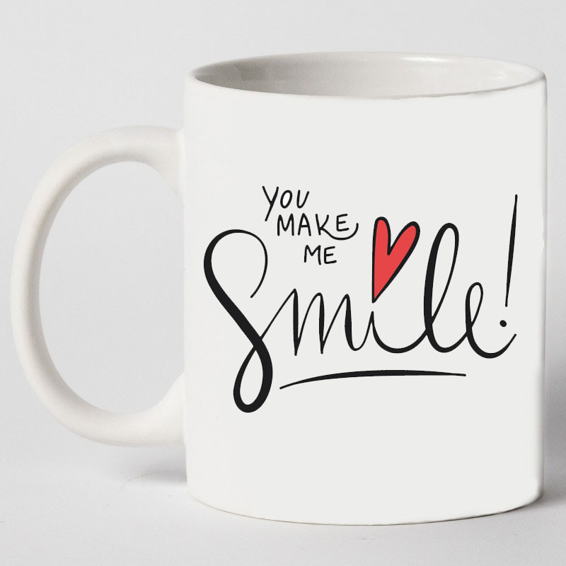 "Чашка ""You make me smile"""
