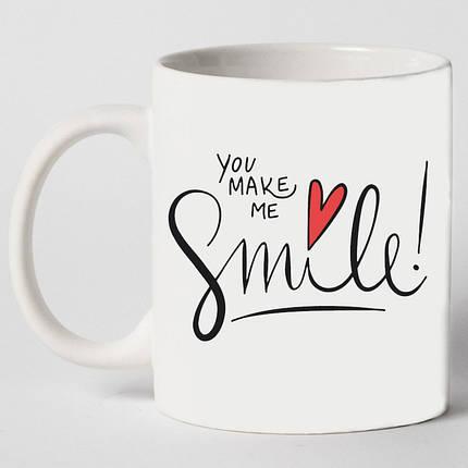 """Чашка """"You make me smile"""", фото 2"""