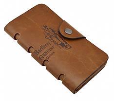 Мужское Портмоне Baellerry Genuine Leather (Коричневый)