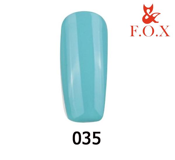 Гель-лак FOX Pigment № 035 (бирюзово-голубой), 6 мл