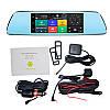 """Автомобильный Регистратор зеркало DVR T518 Silver 7"""" сенсор, 2 камеры, GPS+ WiFi, 8Gb, Android, 3G, фото 2"""
