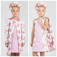 Нежный комплект платье + кардиган zironka