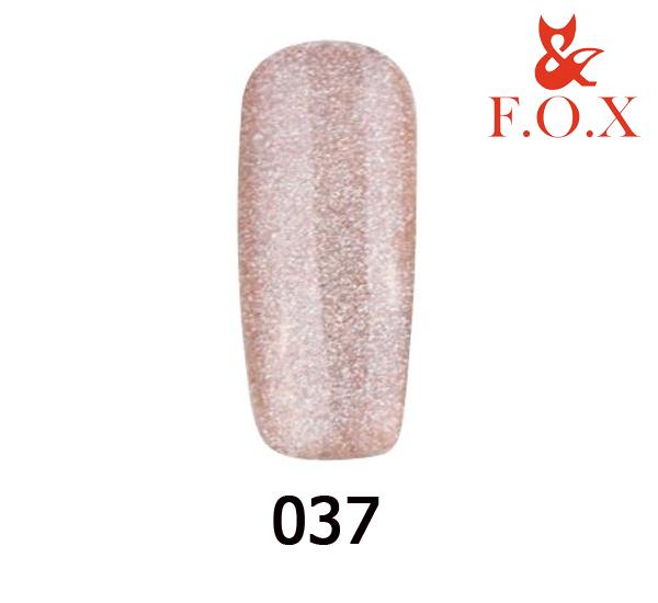 Гель-лак FOX Pigment №  037 ( шампань с голограммными блестками), 6 мл