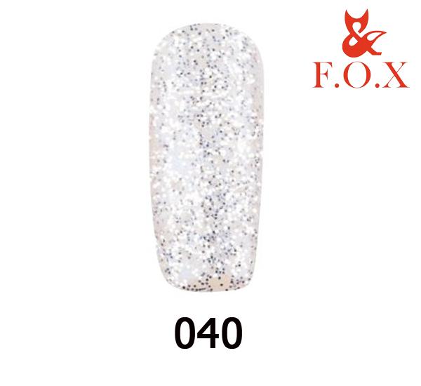 Гель-лак FOX Pigment №  040 (серебрянные блестки на прозрачной основе), 6 мл
