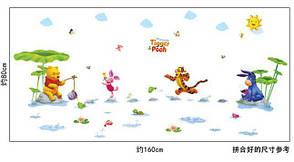 Дизайнерська наклейка Вінні на риболовлі, фото 2
