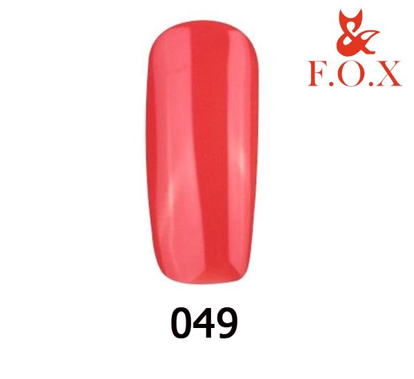 Гель-лак FOX Pigment № 049 (красно-морковный), 6 мл