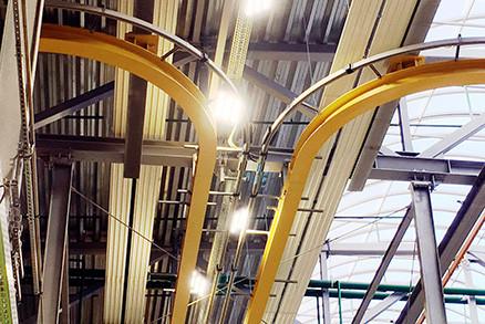 Монтаж металлоконструкций подкрановых путей и балки монорельса