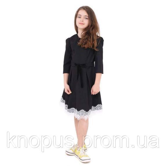 Платье школьное Jasmine черное (P033839), Timbo, размеры 116-158