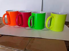 Чашка для сублімації неонова матова 330мл (серія PREMIUM)