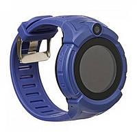 Детские умные часы Q 610S с LED фонариком Темно-синий