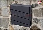 Почтовый ящик из оцинкованной стали запираемый  SN3645, фото 6