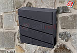 Поштова скринька з оцинкованої сталі замикається SN3645, фото 6