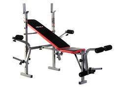 Тренажер скамья для домашнего тренажерного зала + пролет 200 кг