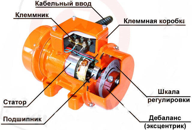 строение площадочного вибратора