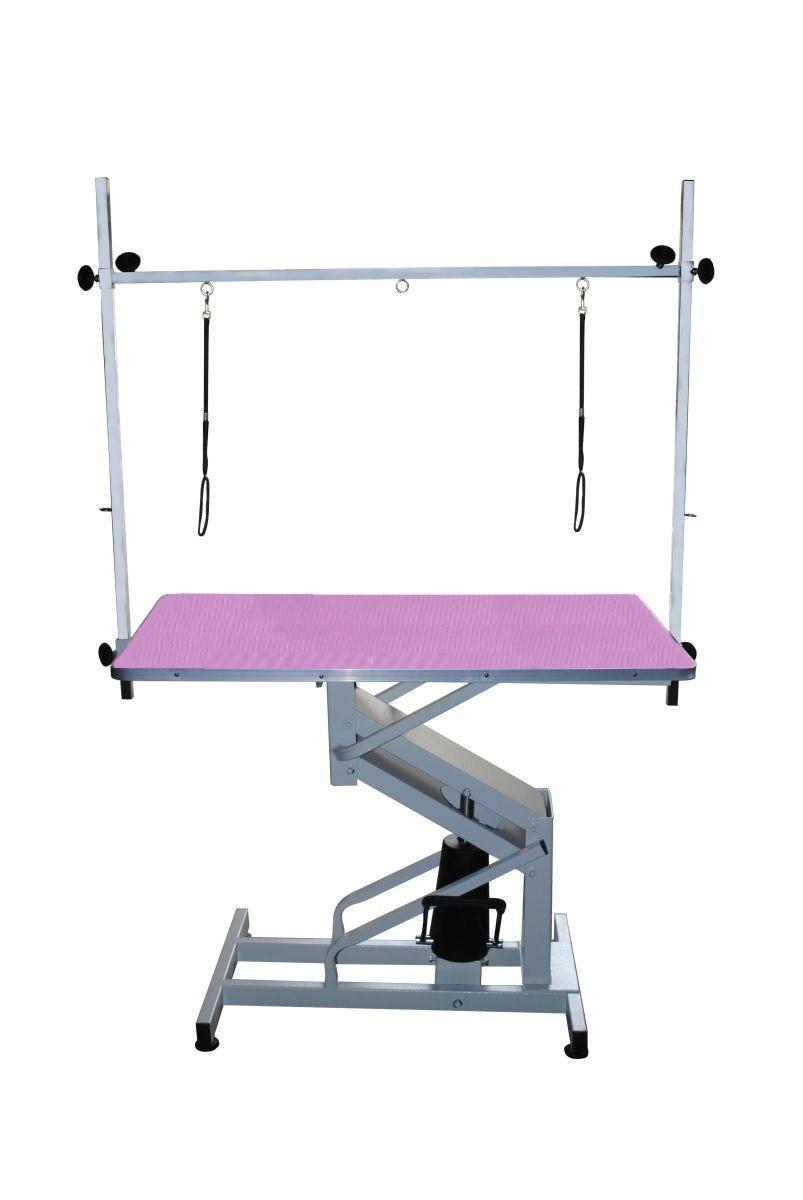 Стол на гидравлическом подъемнике Blovi Venus, фиолетовый стол 110x60см
