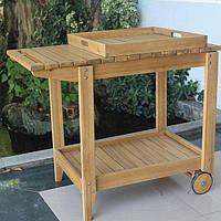 Стол тележка с подносом  DENIA 75*60*60 см под барбекю