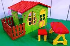 Детский домик Mochtoys 190*118*127см + столик со стулом Польша