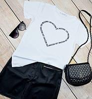 Модная женская футболка в стиле Moschino (Москино)