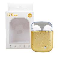 Беспроводные наушники Bluetooth Alitek I7S TWS White Water Drop Gold Box