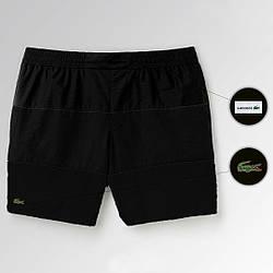 Пляжные шорты Lacoste, шорты Лакоста, мужские, плавательные, летние, черные