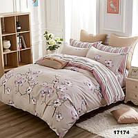 Постельный комплект евро Viluta 100% хлопок, комплект постельного белья, постельное белье хлопок